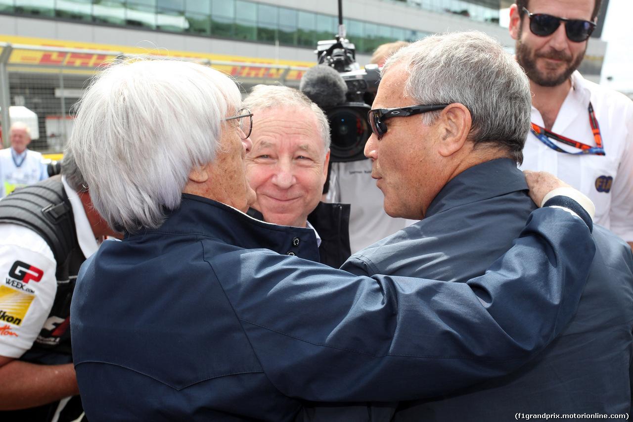 GP GRAN BRETAGNA, 05.07.2015- Gara, Bernie Ecclestone (GBR), President e CEO of FOM e Jean Todt (FRA), President FIA