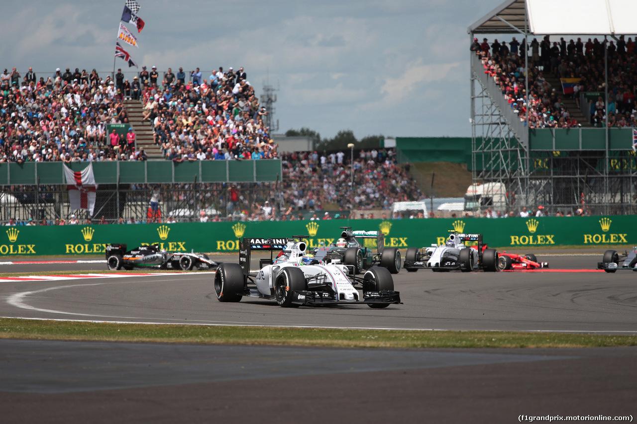 GP GRAN BRETAGNA, 05.07.2015- Gara, Felipe Massa (BRA) Williams F1 Team FW37