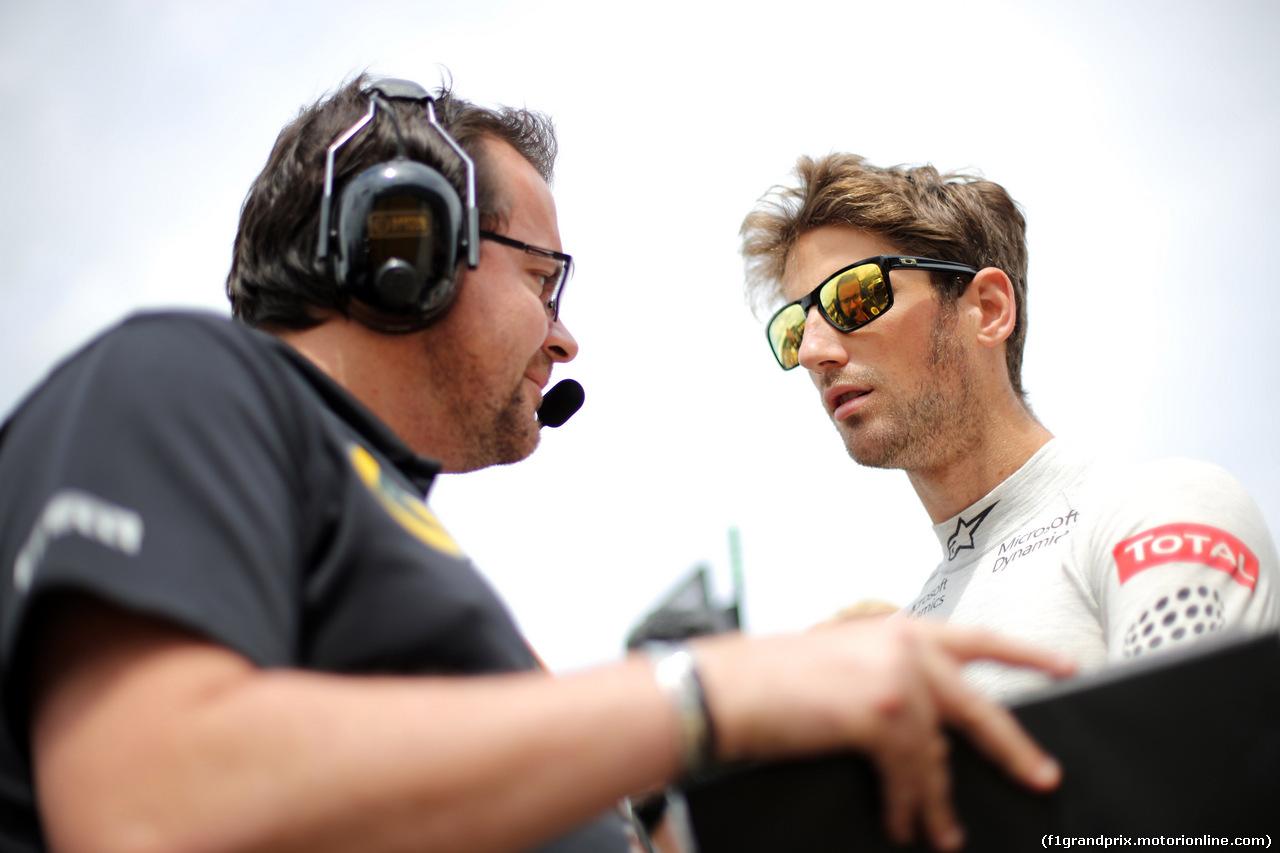GP GRAN BRETAGNA, 05.07.2015- Gara, Romain Grosjean (FRA) Lotus F1 Team E23