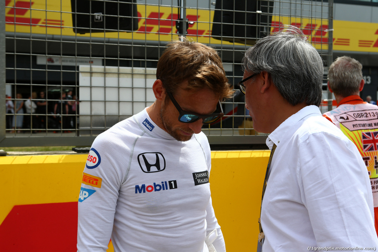 GP GRAN BRETAGNA, 05.07.2015- Gara, Jenson Button (GBR)  McLaren Honda MP4-30.