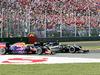 GP ITALIA, 06.09.2015 - Gara, Daniel Ricciardo (AUS) Red Bull Racing RB11 e Sergio Perez (MEX) Sahara Force India F1 VJM08