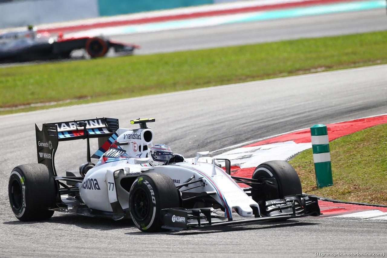 GP MALESIA, 29.03.2015- Gara, Valtteri Bottas (FIN) Williams F1 Team FW37