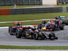 GP MALESIA, 29.03.2015- Gara, Romain Grosjean (FRA) Lotus F1 Team E23 davanti a Carlos Sainz Jr (ESP) Scuderia Toro Rosso STR10