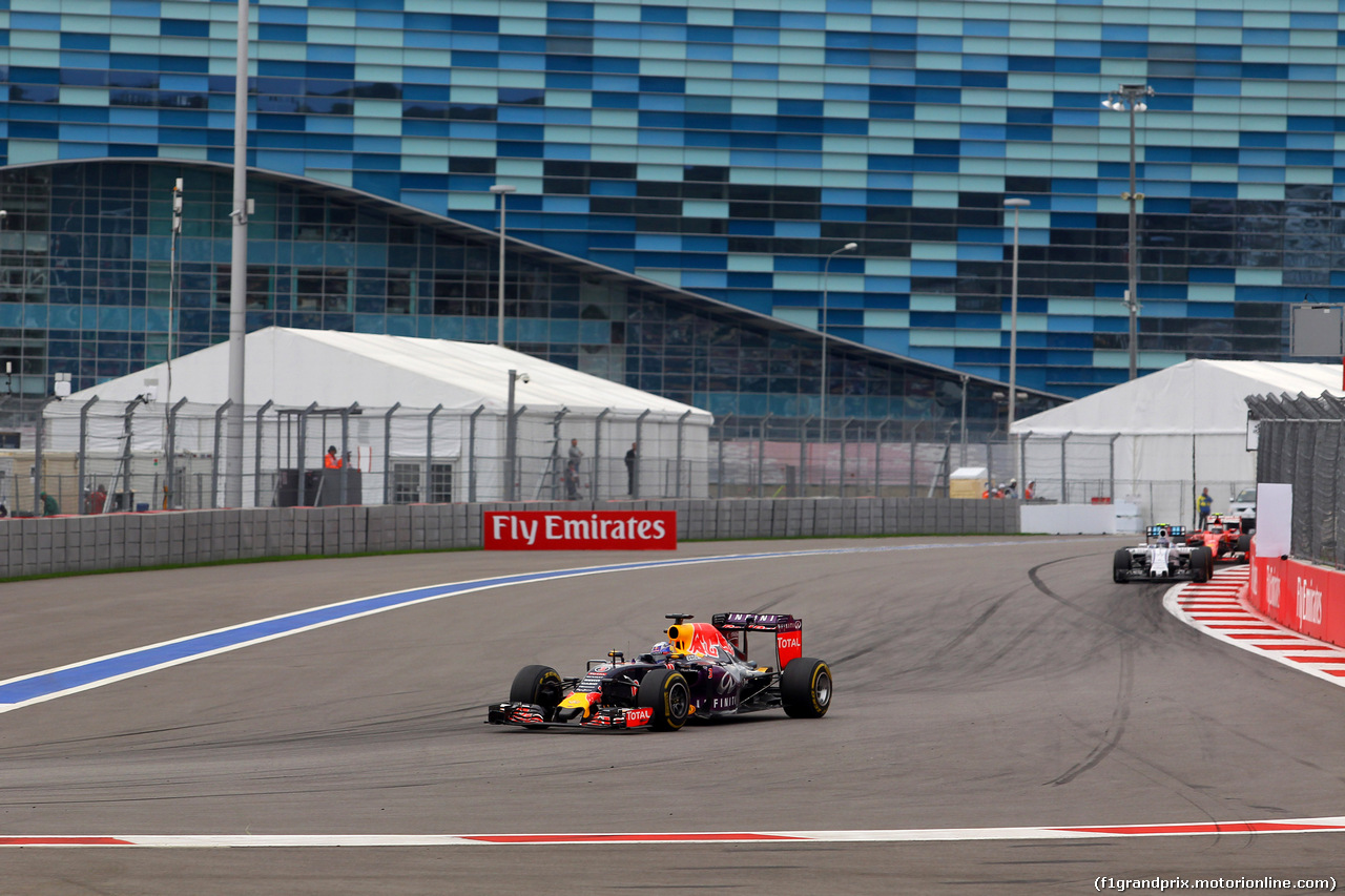 GP RUSSIA, 11.10.2015 - Gara, Daniel Ricciardo (AUS) Red Bull Racing RB11
