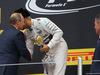 GP RUSSIA, 11.10.2015 - Gara, Vladimir Putin (RUS) Russian Federation President e Lewis Hamilton (GBR) Mercedes AMG F1 W06 vincitore e Dmitry Kozak (RUS) Russian Deputy Prime Minister