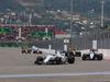 GP RUSSIA, 11.10.2015 - Gara, Felipe Massa (BRA) Williams F1 Team FW37 davanti a Sergio Perez (MEX) Sahara Force India F1 VJM08