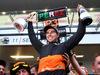 GP RUSSIA, 11.10.2015 - Gara, Festeggiamenti, terzo Sergio Perez (MEX) Sahara Force India F1 VJM08