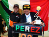 GP RUSSIA, 11.10.2015 - Gara, Festeggiamenti, terzo Sergio Perez (MEX) Sahara Force India F1 VJM08 with his father