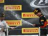 GP RUSSIA, 11.10.2015 - Gara, Lewis Hamilton (GBR) Mercedes AMG F1 W06 vincitore e terzo Sergio Perez (MEX) Sahara Force India F1 VJM08