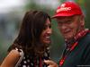 GP RUSSIA, 10.10.2015 - Free Practice 3, Fabiana Flosi (BRA), Wife of Bernie Ecclestone e Nikki Lauda (AU), Mercedes