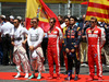 GP SPAGNA, 10.05.2015- partenza cerimony: Lewis Hamilton (GBR) Mercedes AMG F1 W06 , Nico Rosberg (GER) Mercedes AMG F1 W06, Sebastian Vettel (GER) Ferrari SF15-T, Carlos Sainz Jr (ESP) Scuderia Toro Rosso STR10, Kimi Raikkonen (FIN) Ferrari SF15-T