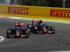 GP SPAGNA, 10.05.2015- Gara, Max Verstappen (NED) Scuderia Toro Rosso STR10 e Carlos Sainz Jr (ESP) Scuderia Toro Rosso STR10