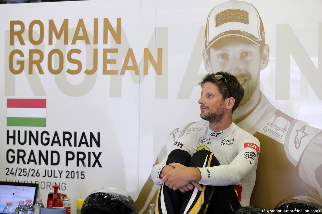GP UNGHERIA, 26.07.2015 - Gara, Romain Grosjean (FRA) Lotus F1 Team E23