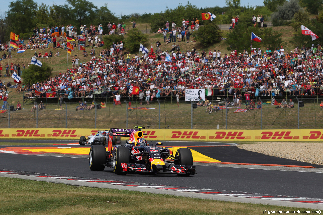 GP UNGHERIA, 26.07.2015 - Gara, Daniil Kvyat (RUS) Red Bull Racing RB11