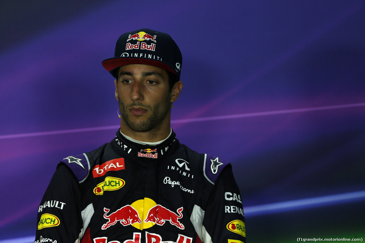 GP UNGHERIA, 26.07.2015 - Gara, Conferenza Stampa, Daniel Ricciardo (AUS) Red Bull Racing RB11
