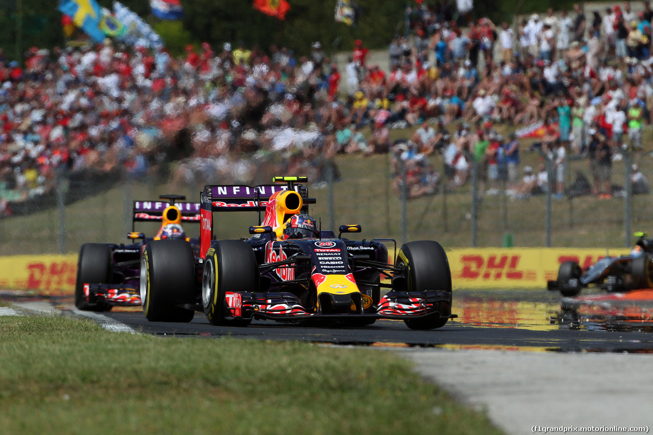 GP UNGHERIA, 26.07.2015 - Gara, Daniil Kvyat (RUS) Red Bull Racing RB11