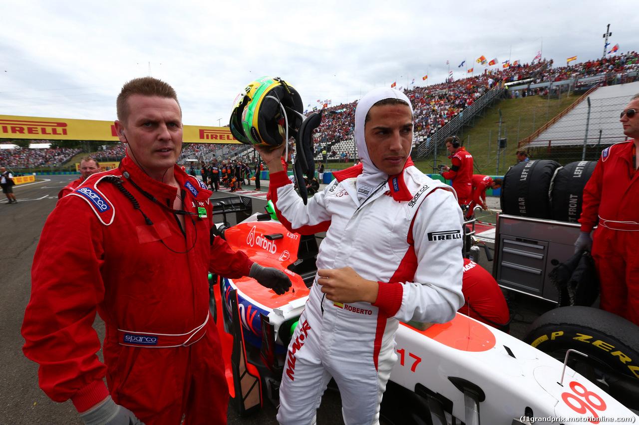 GP UNGHERIA, 26.07.2015 - Gara, Roberto Merhi (ESP) Manor Marussia F1 Team