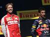 GP UNGHERIA, 26.07.2015 - Gara, Sebastian Vettel (GER) Ferrari SF15-T vincitore e terzo Daniel Ricciardo (AUS) Red Bull Racing RB11