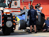TEST F1 BARCELLONA 13 MAGGIO, The Sauber C34 of Raffaele Marciello (ITA) Sauber C34 Test And Reserve Driver is recovered back to the pits on the back of a truck. 13.05.2015.
