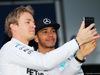 TEST F1 JEREZ 1 FEBBRAIO, (L to R): Nico Rosberg (GER) Mercedes AMG F1 with team mate Lewis Hamilton (GBR) Mercedes AMG F1. 01.02.2015.