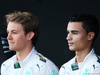 TEST F1 JEREZ 1 FEBBRAIO, (L to R): Nico Rosberg (GER) Mercedes AMG F1 with Pascal Wehrlein (GER) Mercedes AMG F1 Reserve Driver. 01.02.2015.