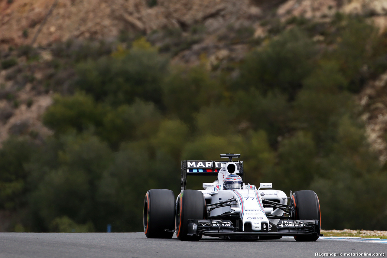 TEST F1 JEREZ 2 FEBBRAIO, Valtteri Bottas (FIN) Williams FW37. 02.02.2015.