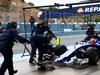 TEST F1 JEREZ 3 FEBBRAIO, Felipe Nasr (BRA) Sauber C34 practices a pit stop. 03.02.2015.