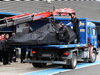 TEST F1 JEREZ 3 FEBBRAIO, The Mercedes AMG F1 W06 of Nico Rosberg (GER) Mercedes AMG F1 is recovered back to the pits on the back of a truck. 03.02.2015.