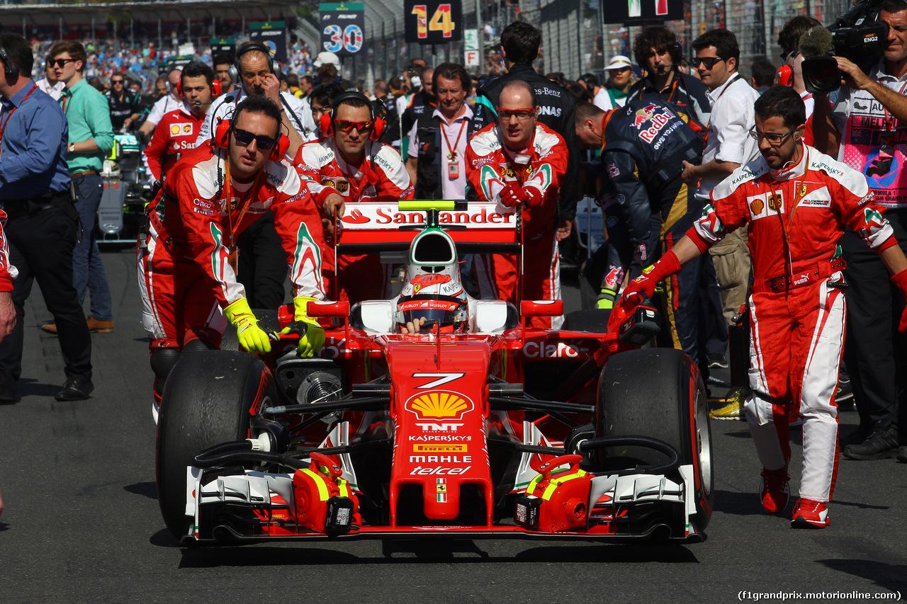 GP AUSTRALIA, 20.03.2016 - Kimi Raikkonen (FIN) Ferrari SF16-H