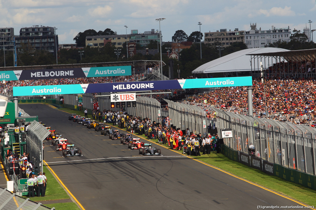GP AUSTRALIA, 20.03.2016 - Gara, The grid