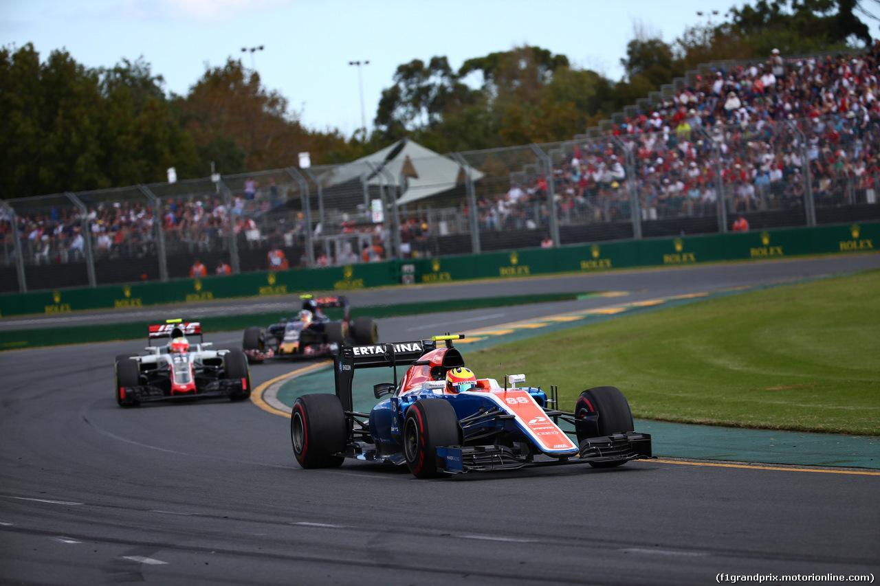 GP AUSTRALIA, 20.03.2016 - Gara, Rio Haryanto (IND) Manor Racing MRT05