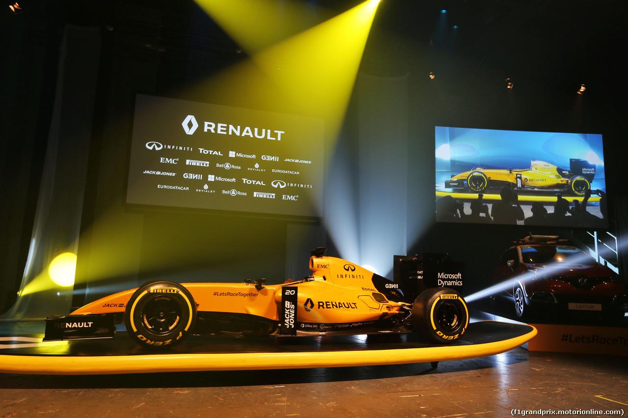 GP AUSTRALIA, The Renault Sport F1 Team RS16 livery reveal. 16.03.2016.