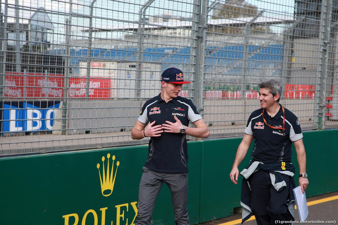 GP AUSTRALIA, 16.03.2016 - Preparation Day, Max Verstappen (NED) Scuderia Toro Rosso STR11