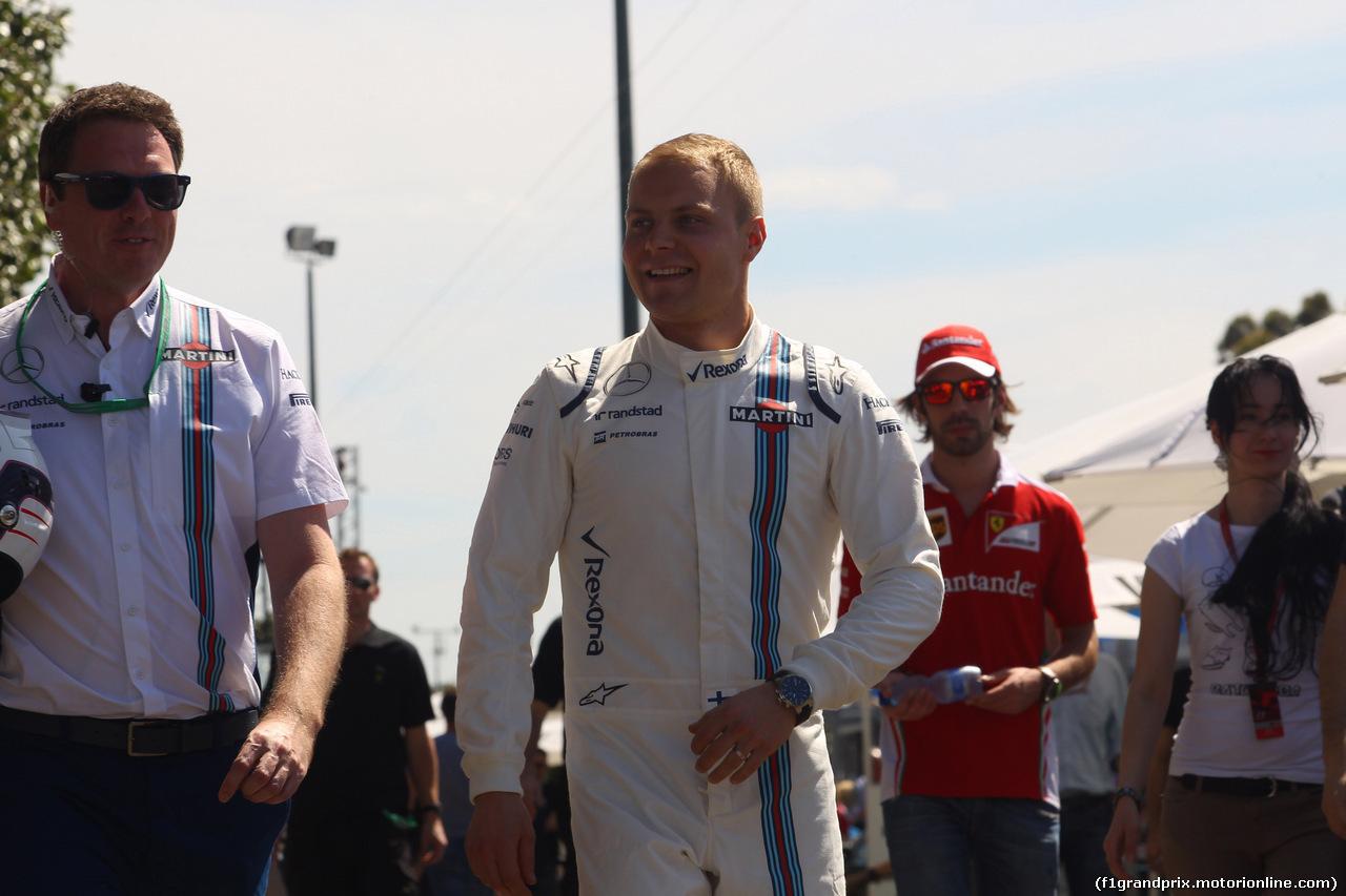 GP AUSTRALIA, 17.03.2016 - Valtteri Bottas (FIN) Williams FW38
