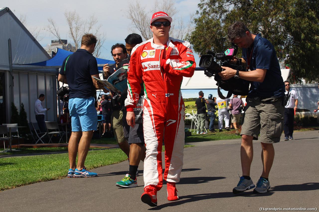 GP AUSTRALIA, 17.03.2016 - Kimi Raikkonen (FIN) Ferrari SF16-H