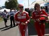 GP AUSTRALIA, 17.03.2016 - Kimi Raikkonen (FIN) Ferrari SF16-H e Stefania Boccoli (ITA) Ferrari PR Officer