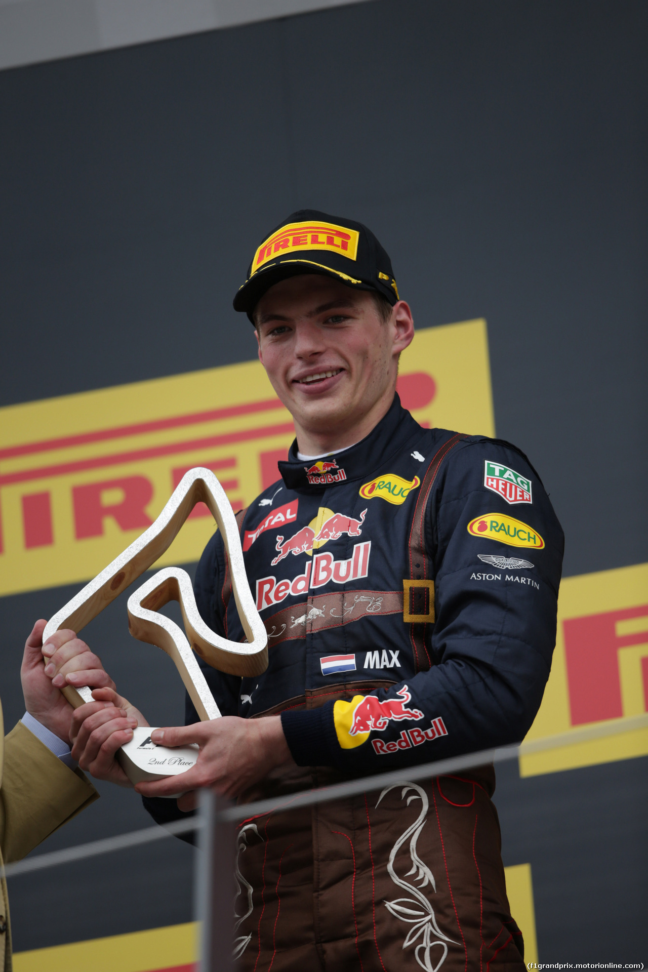 GP AUSTRIA, 03.07.2016 - Podium, 2nd place Max Verstappen (NED) Red Bull Racing RB12