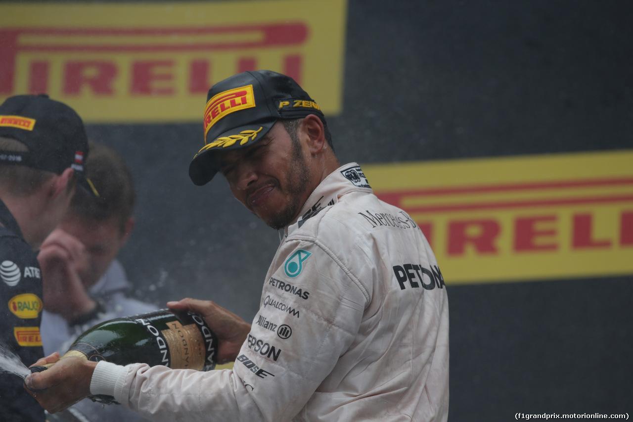 GP AUSTRIA, 03.07.2016 - Podium, winner: Lewis Hamilton (GBR) Mercedes AMG F1 W07