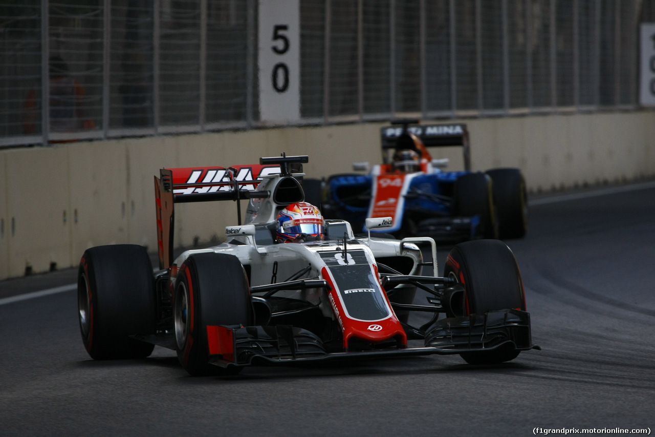 GP EUROPA, 19.06.2016 - Gara, Romain Grosjean (FRA) Haas F1 Team VF-16