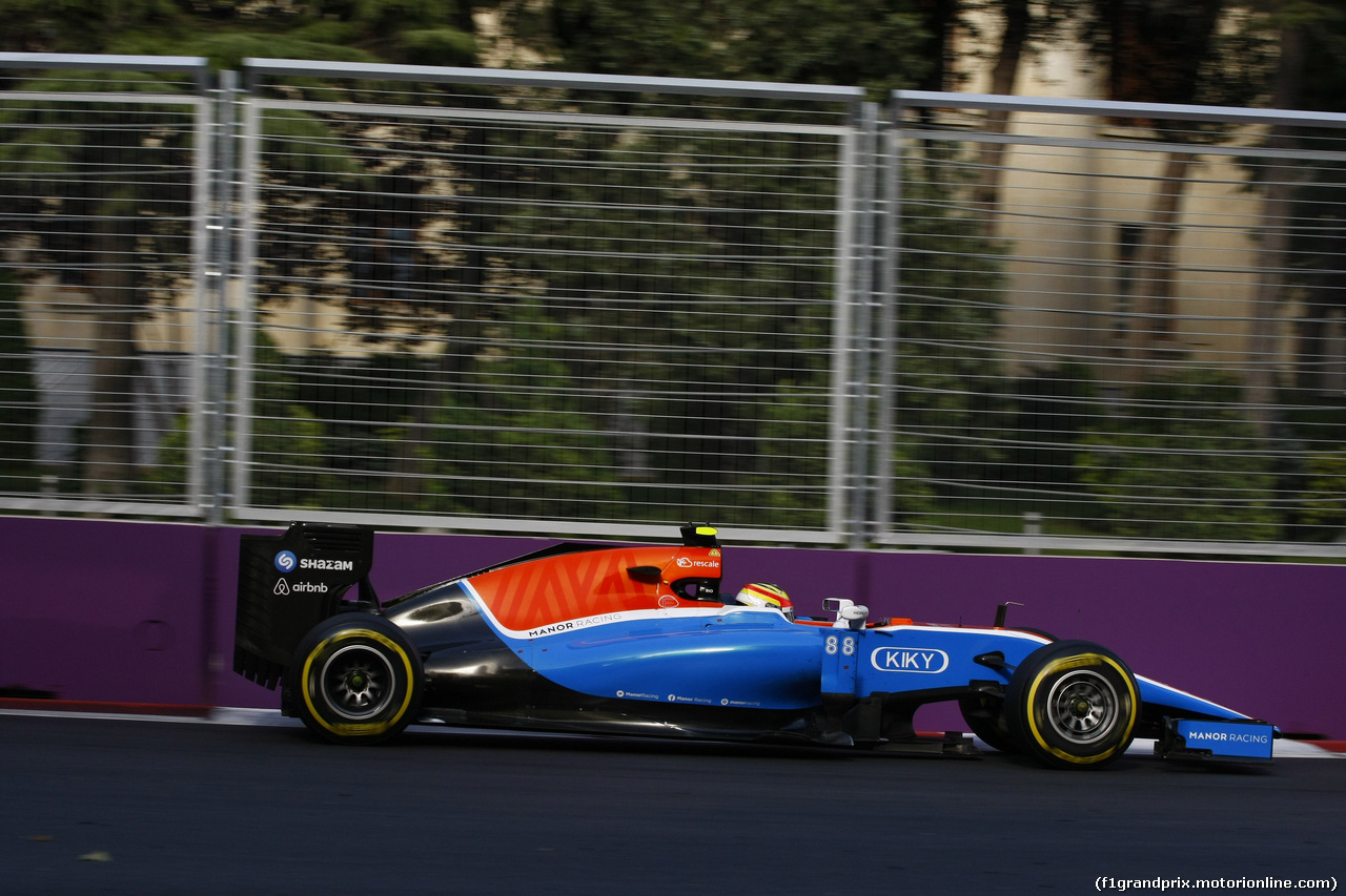 GP EUROPA, 19.06.2016 - Gara, Rio Haryanto (IDN) Manor Racing MRT05