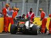 GP EUROPA, Qualifiche, Lewis Hamilton (GBR) Mercedes AMG F1 W07 Hybrid crashed out of qualifying.