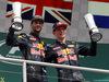 GP GERMANIA, 31.07.2016 - Gara, secondo Daniel Ricciardo (AUS) Red Bull Racing RB12 e terzo Max Verstappen (NED) Red Bull Racing RB12