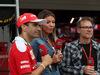 GP GIAPPONE, 09.10.2016 - Gara, Marc Gene (ESP), Test Driver Ferrari, Federica Masolin, Sky e Jacques Villeneuve (CAN)