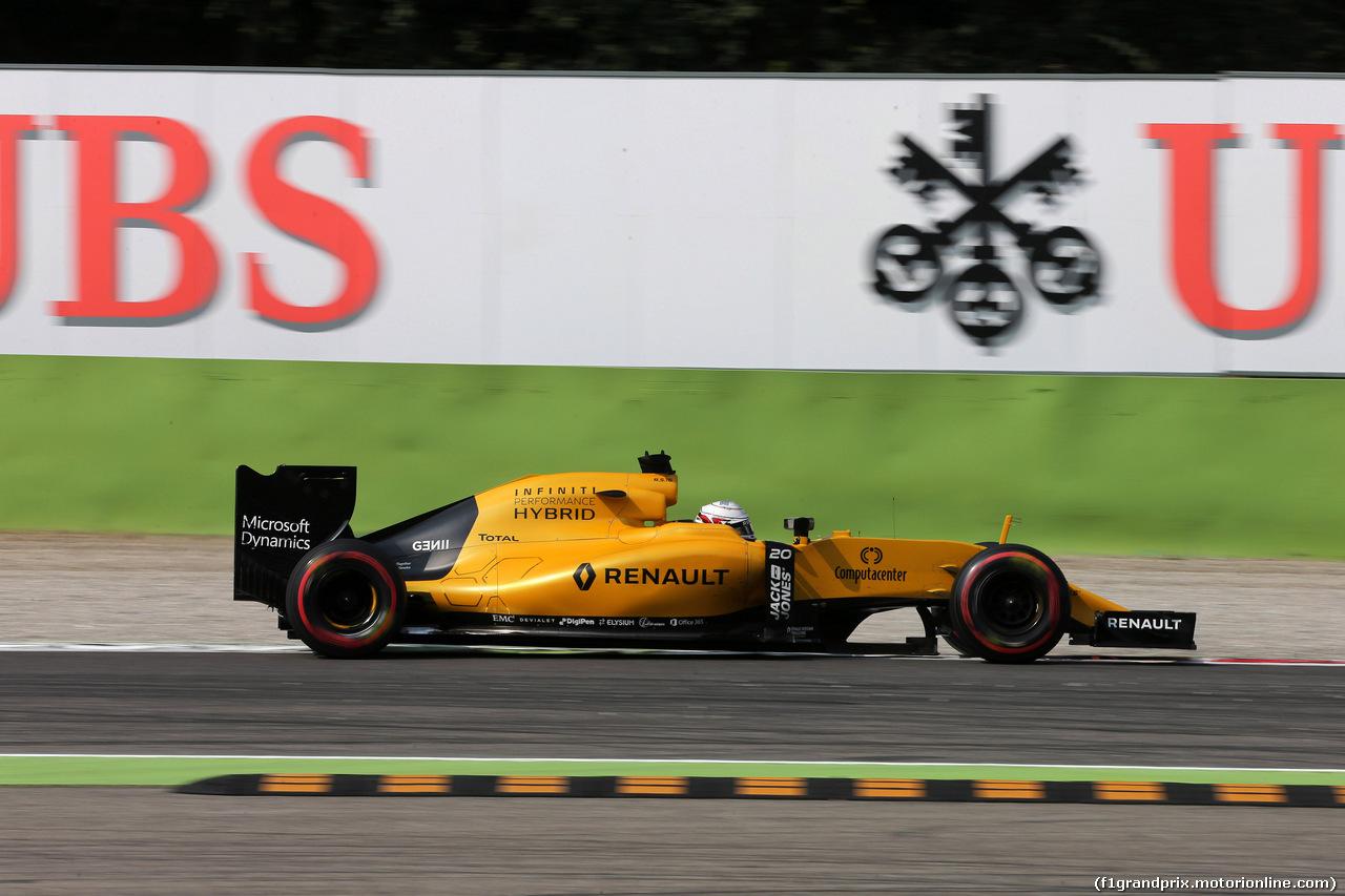 GP ITALIA, 02.09.2016 - Prove Libere 2, Kevin Magnussen (DEN) Renault Sport F1 Team RS16