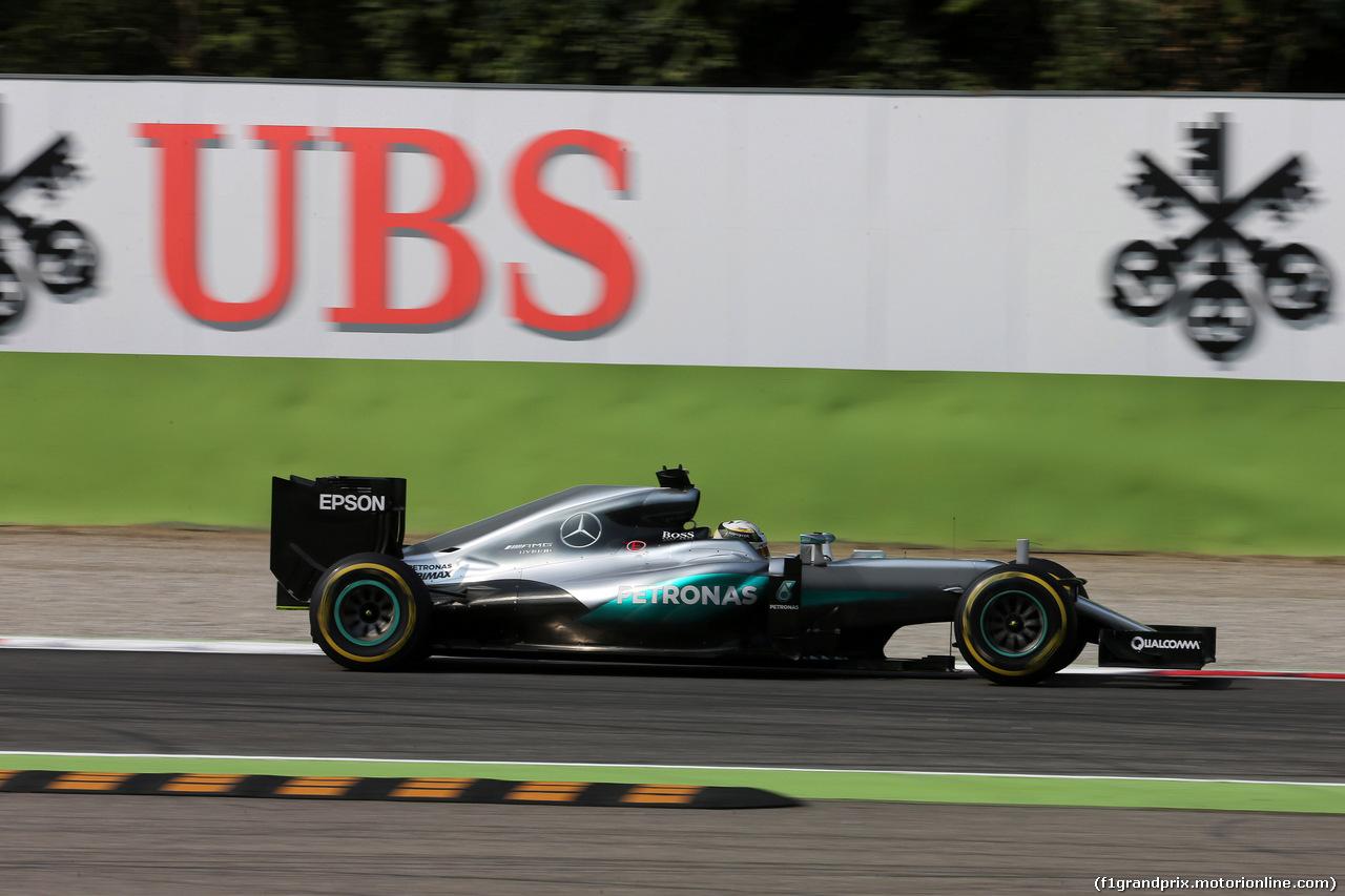 GP ITALIA, 02.09.2016 - Prove Libere 2, Lewis Hamilton (GBR) Mercedes AMG F1 W07 Hybrid