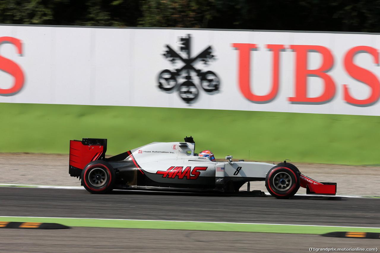 GP ITALIA, 02.09.2016 - Prove Libere 2, Romain Grosjean (FRA) Haas F1 Team VF-16