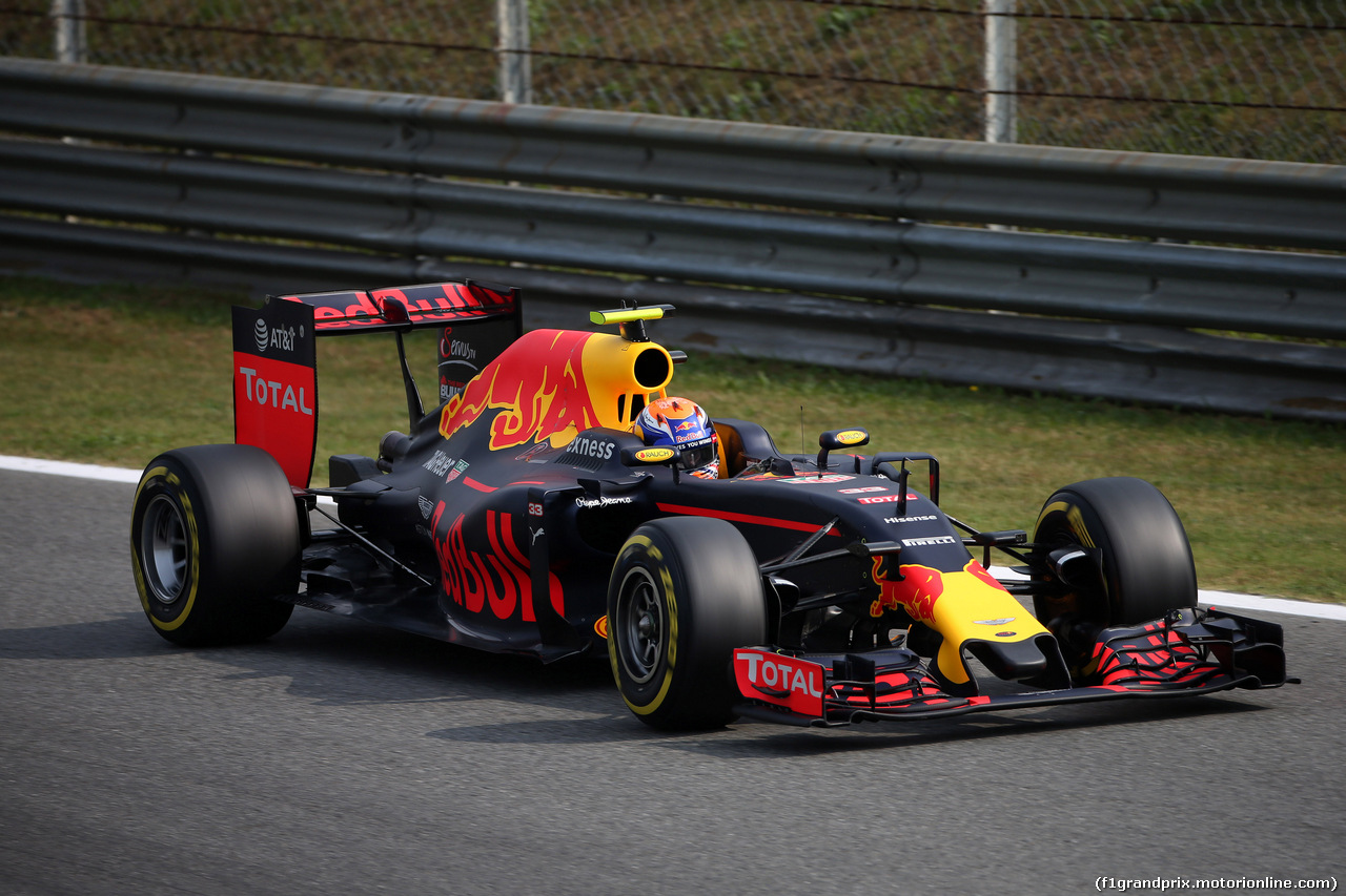 GP ITALIA, 03.09.2016 - Prove Libere 3, Max Verstappen (NED) Red Bull Racing RB12
