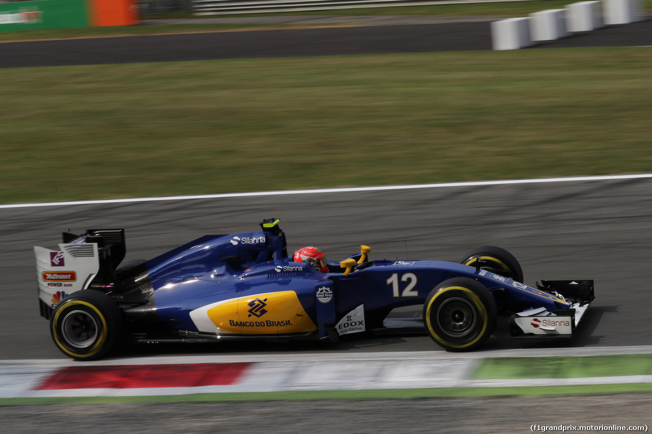 GP ITALIA, 03.09.2016 - Prove Libere 3, Felipe Nasr (BRA) Sauber C34