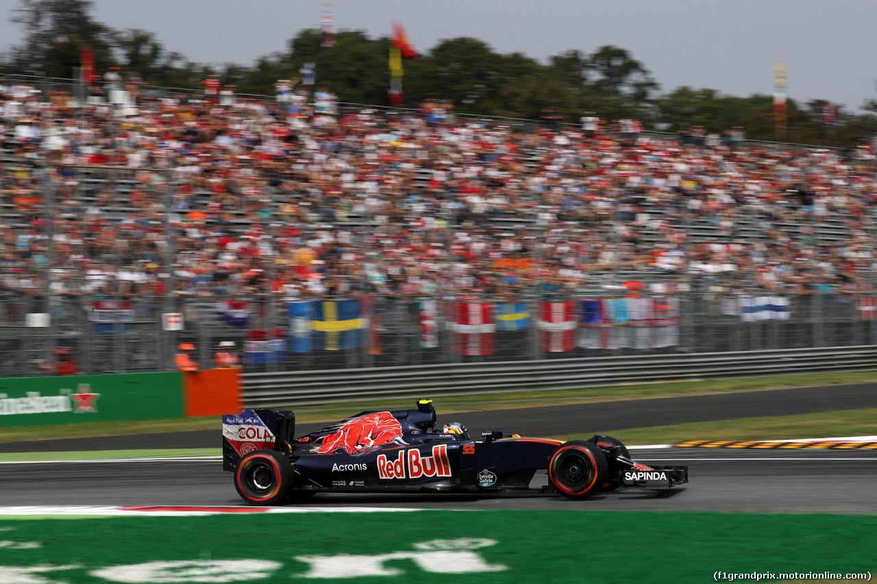 GP ITALIA, 03.09.2016 - Prove Libere 3, Carlos Sainz Jr (ESP) Scuderia Toro Rosso STR11