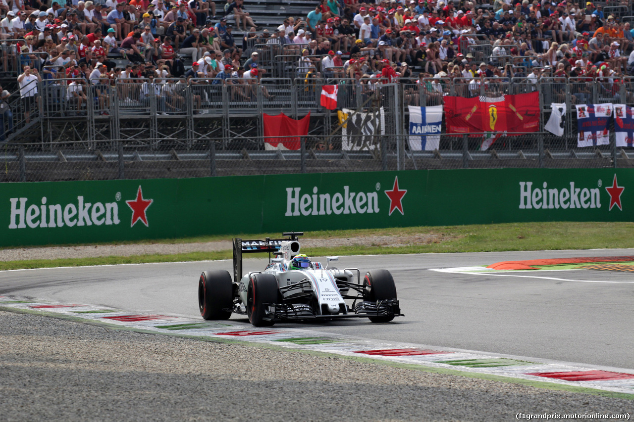 GP ITALIA, 03.09.2016 - Prove Libere 3, Felipe Massa (BRA) Williams FW38
